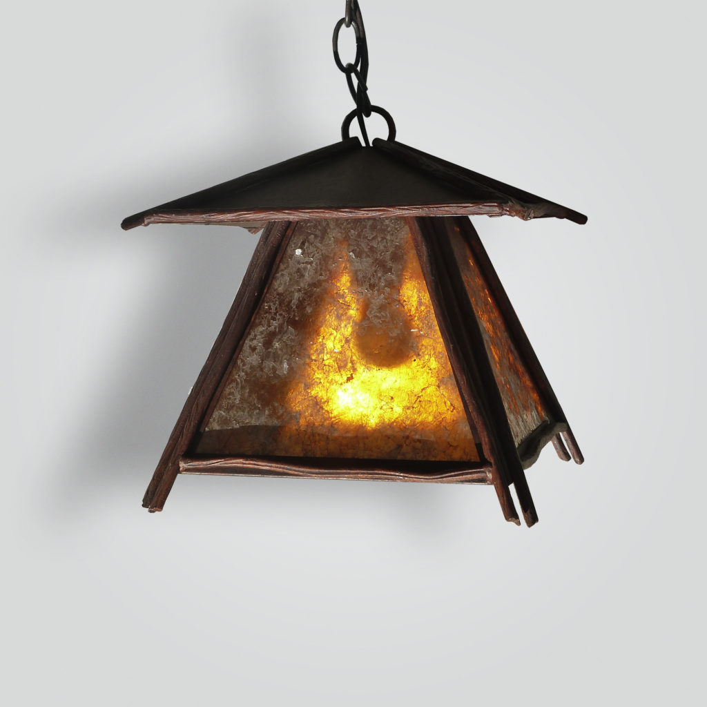 536-mb1-ir-h-ba Japanese Hanging Pendant Mica Shade – ADG Lighting Collection