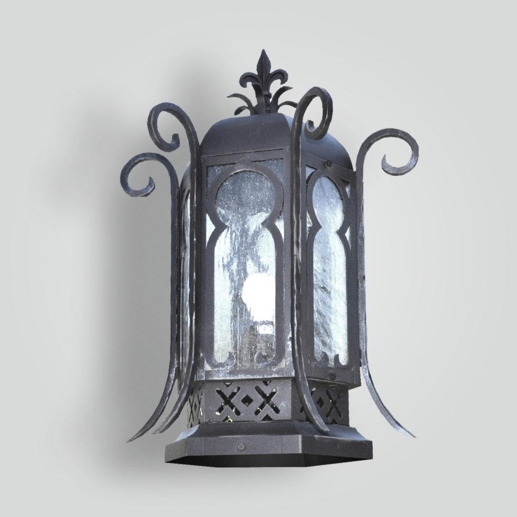 610-mb1-ir-p-ba Persia Italia Pilaster Lantern – ADG Lighting Collection