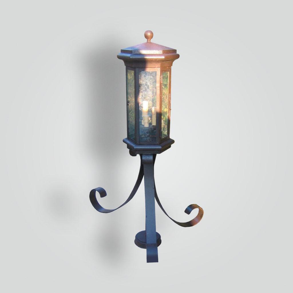 631-cb3-ir-p-ba Transitional Lantern On Pedestal Base – ADG Lighting Collection