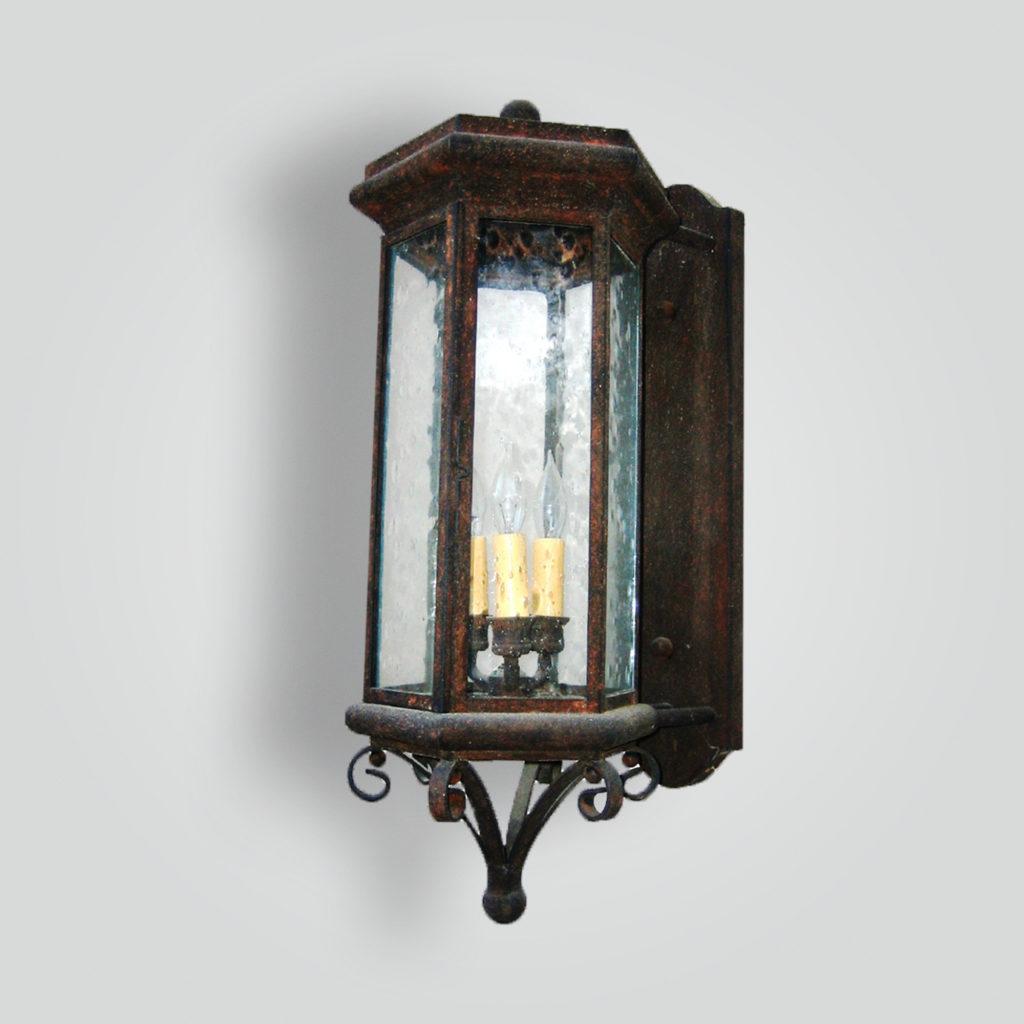 636-cb3-br-w-sh Kane Transitional Lantern – ADG Lighting Collection