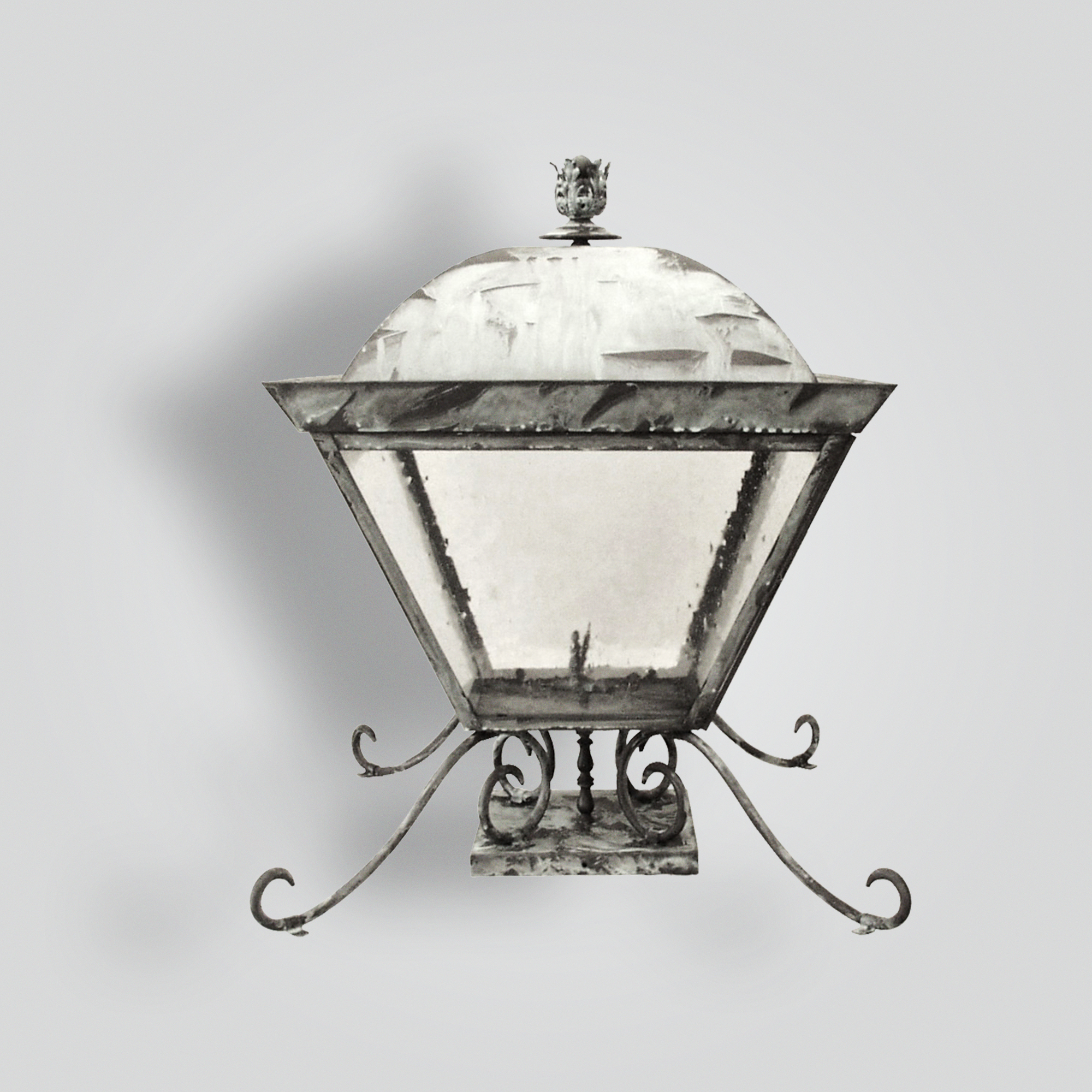 655-ga-br-p-sh-brass Gas Pilaster Lantern – ADG Lighting Collection