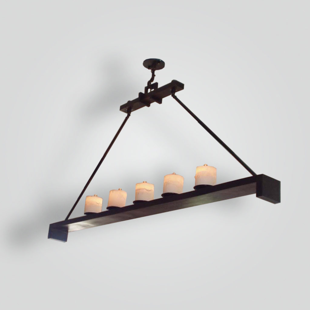 7091-led-br-h-ba Contemporary LED Chandelier – ADG Lighting Collection