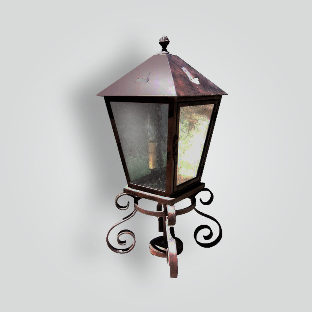 710-cb4-ir-p-ba Mount Rustico Pilaster Lantern – ADG Lighting Collection