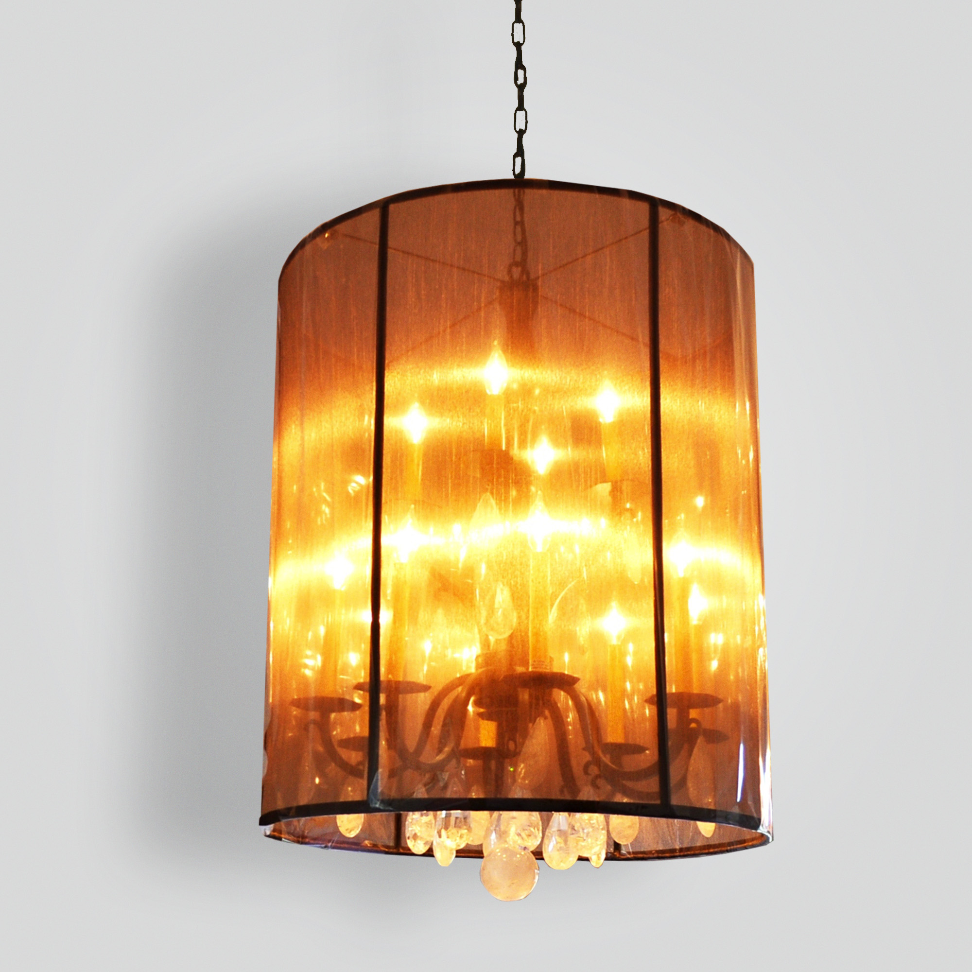 7175-cb12-ir-h-ba-rock-crystal-chandelier-forged-with-satin-mesh-shade-contermporary-chandelier – ADG Lighting Collection