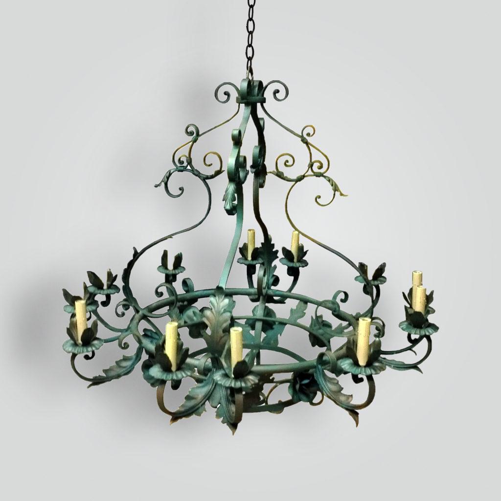 7282-cb12-ir-h Baverde Rose Iron Chandelier – ADG Lighting Collection