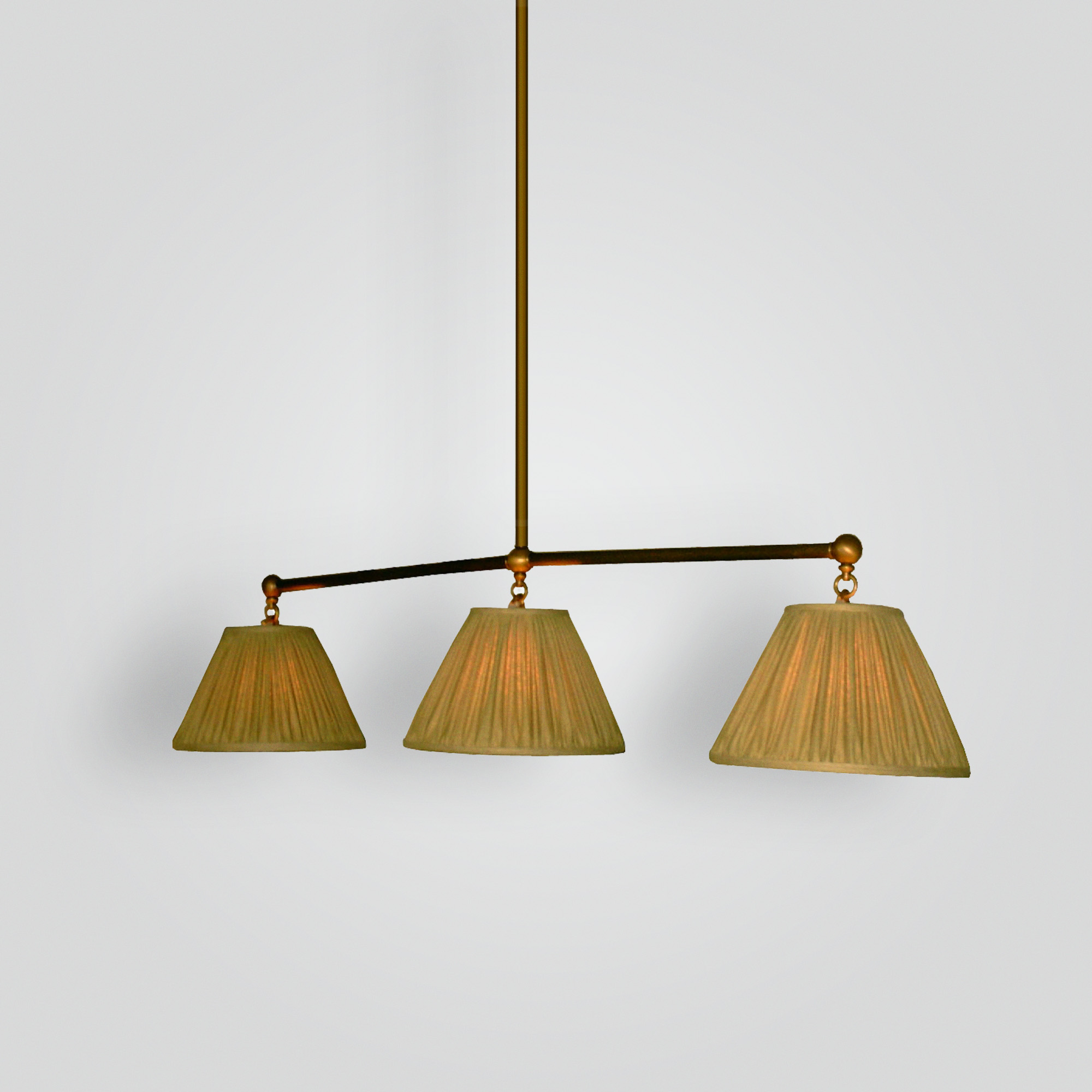 7398-mb3-br-h-ba Pool Table Light with Silk Shade – ADG Lighting Collection