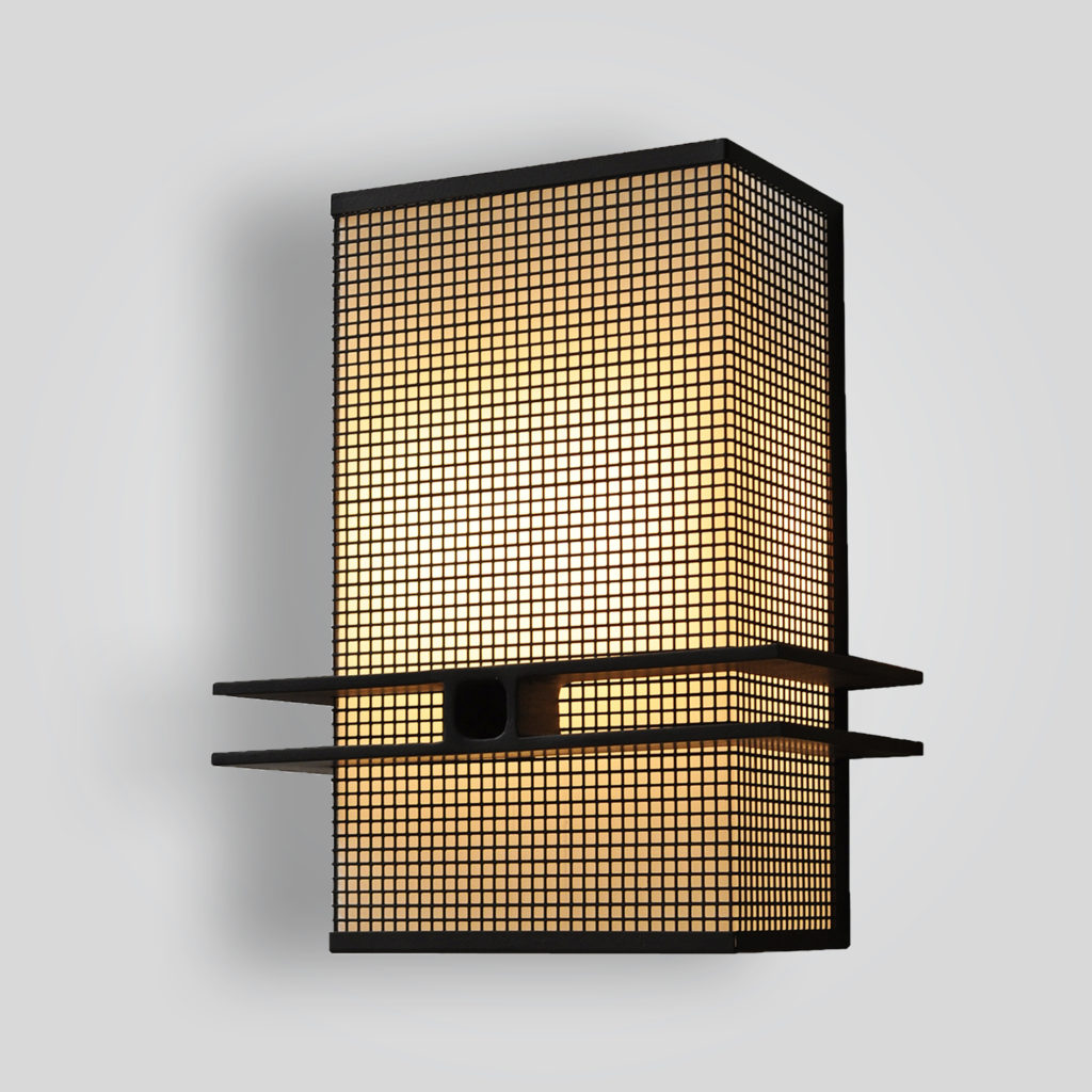 7766-cb8-stch-p-ba Square Mesh Wall Sconce – ADG Lighting Collection