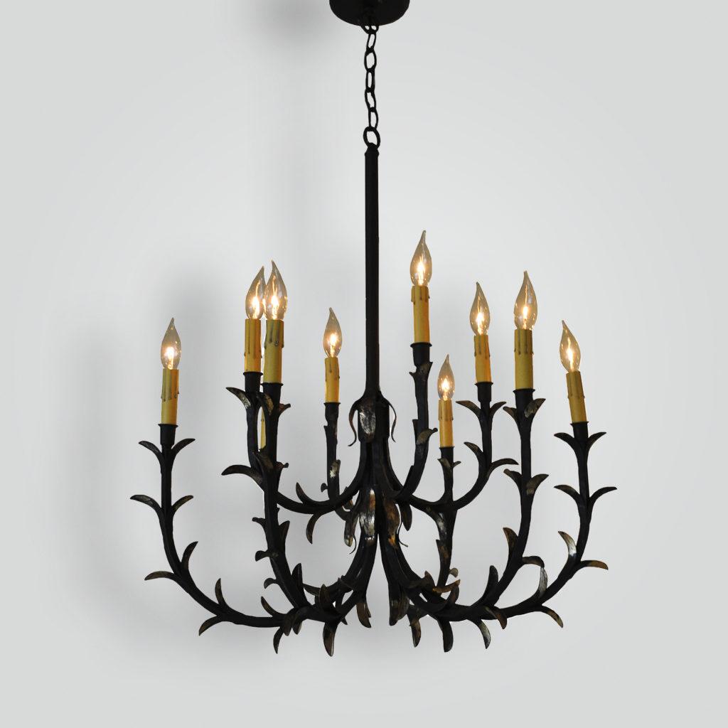 77984 Rose Gold Leafy Chandelier – ADG Lighting Collection
