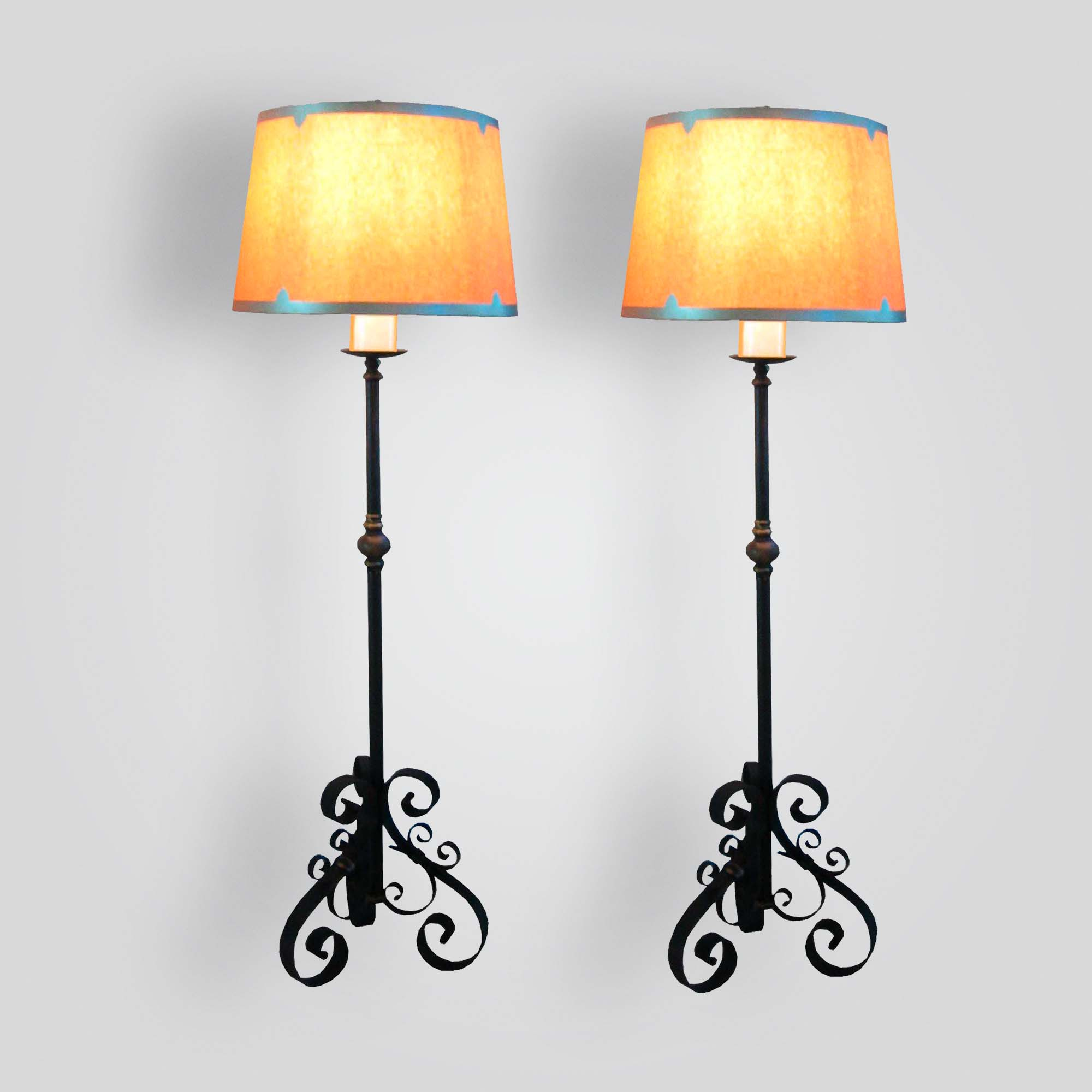 8030-mb1-ir-l-ba-monastary-floor-lamp-with-oiled-parchment-shade – ADG Lighting Collection