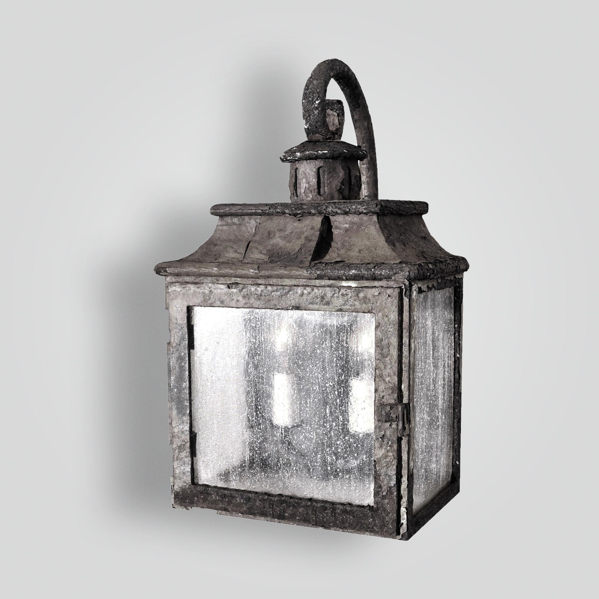 80496-cb2-ir-w-ba Rustic Iron Lantern Wall Light Old World Lighting – ADG Lighting Collection