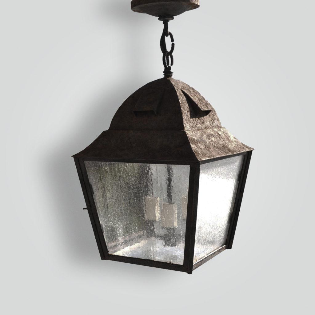 80499-cb2-ir-h-ba Rustic Square Lantern – ADG Lighting Collection