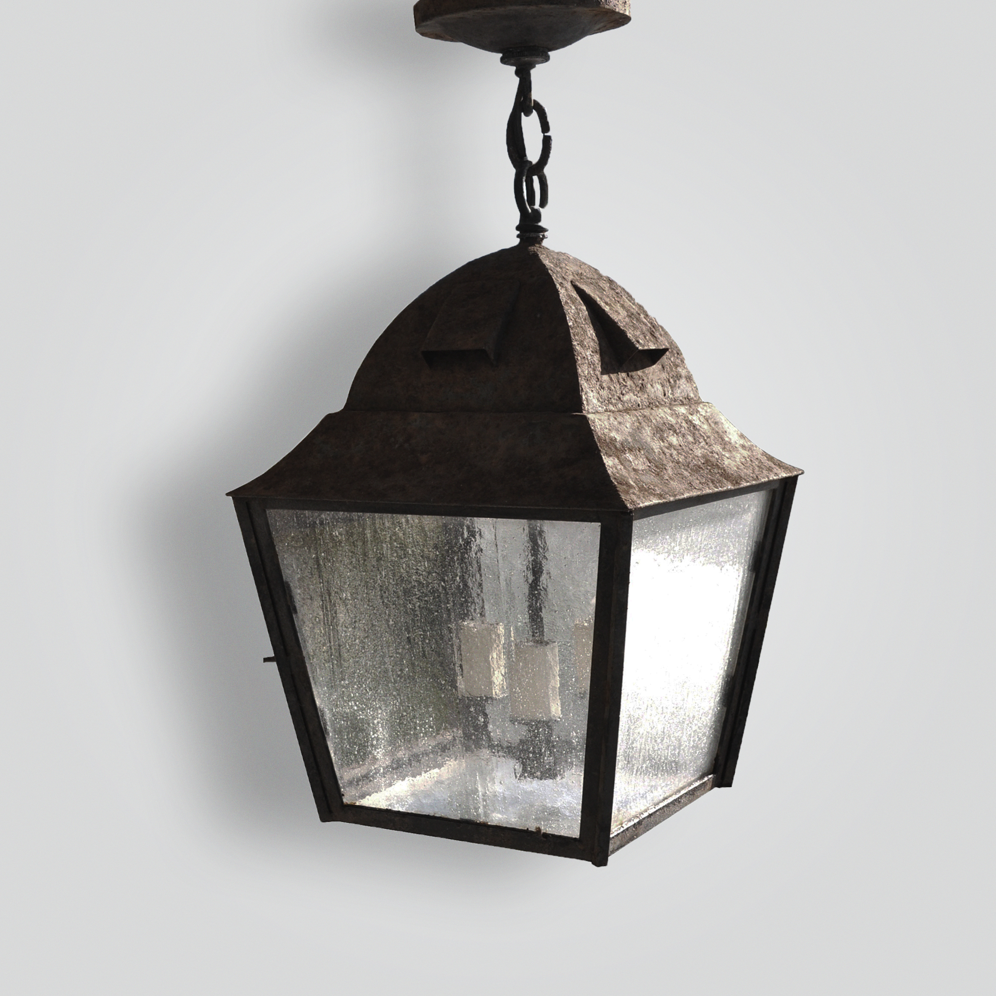80499-cb2-ir-h-ba Rustic Square Lantern – ADG Lighting Collection