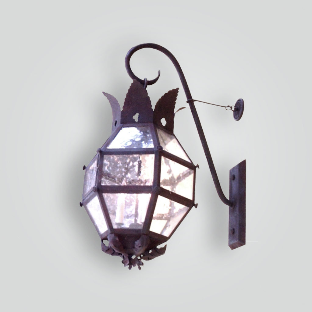 875-cb4-ir-w-sh-six-sideded-large-lantern-with-crown-motif – ADG Lighting Collection