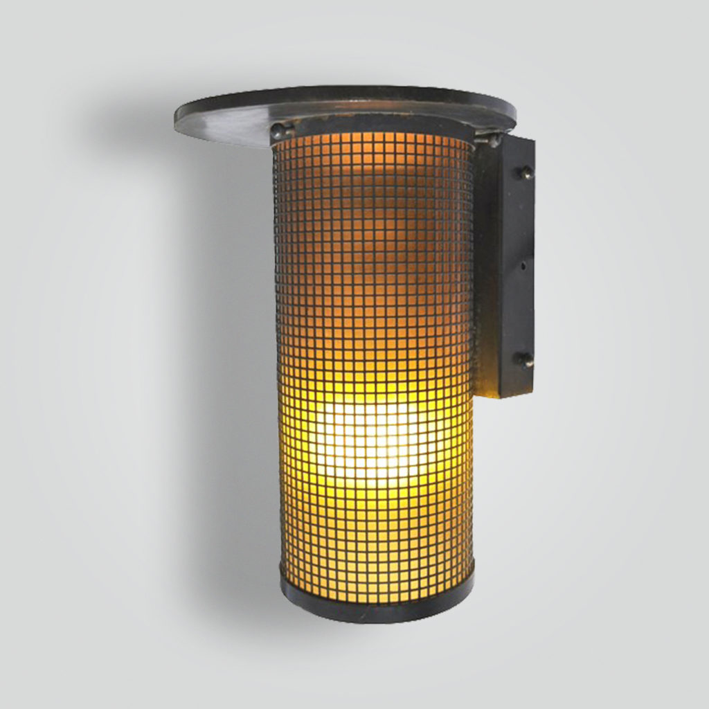 880-mbs-stbr-w-sh 1950's Mesh Sconce – ADG Lighting Collection