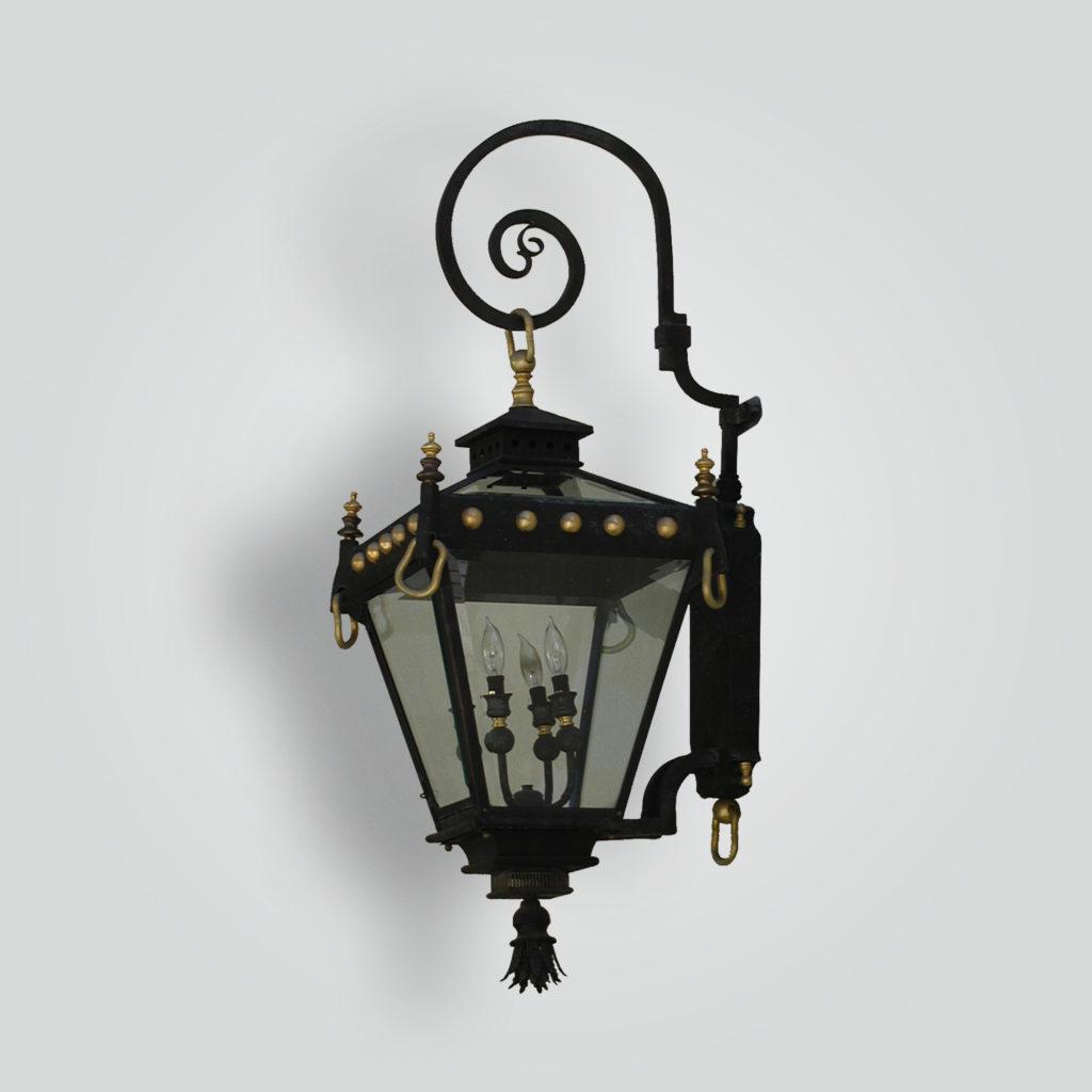 901-cb2-stbr-w-sh-paris-lantern-on-bracket-arm-lourdes-wall-lantern – ADG Lighting Collection