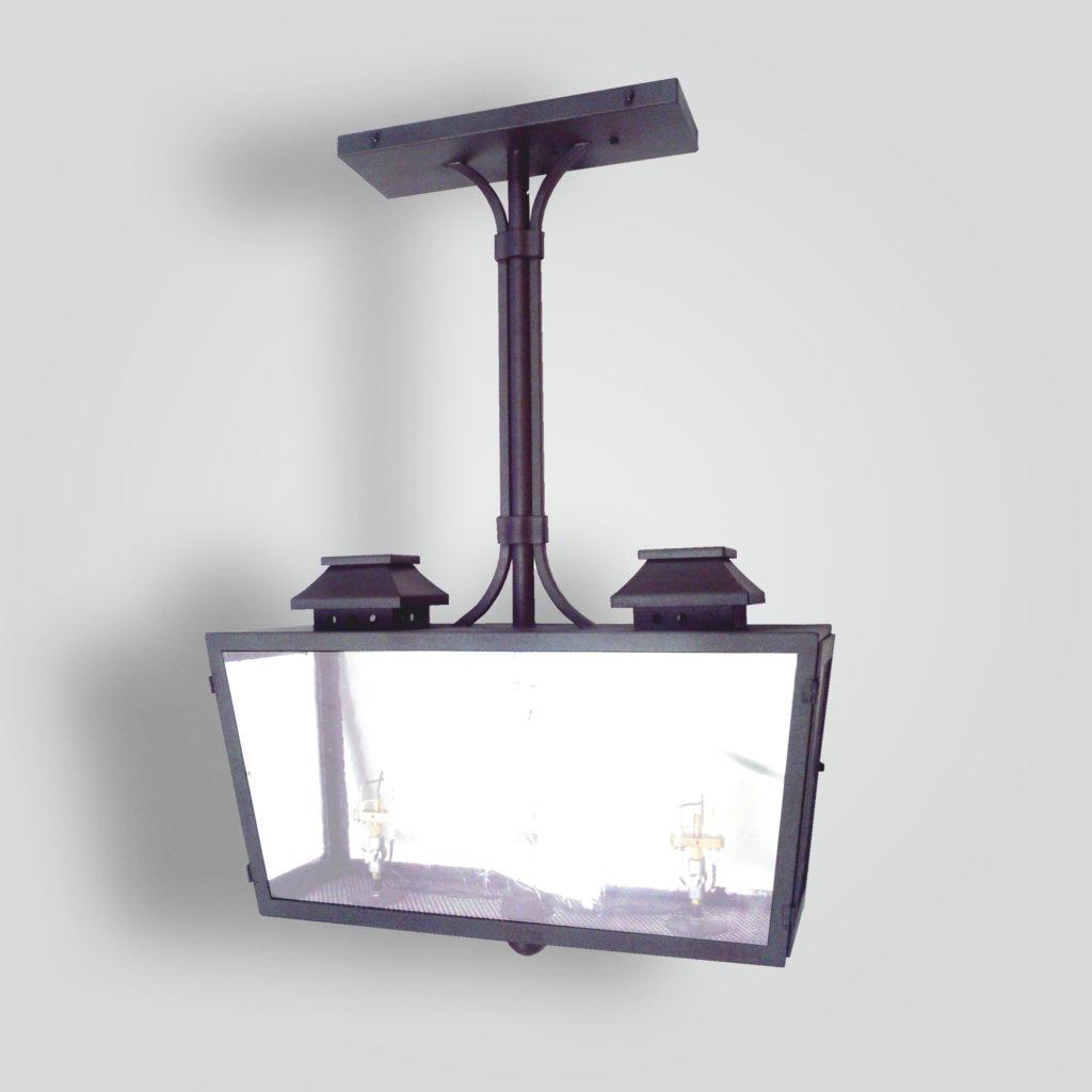 918-ga2-jc-h-sh Double Burner Gas Light Pendant – ADG Lighting Collection