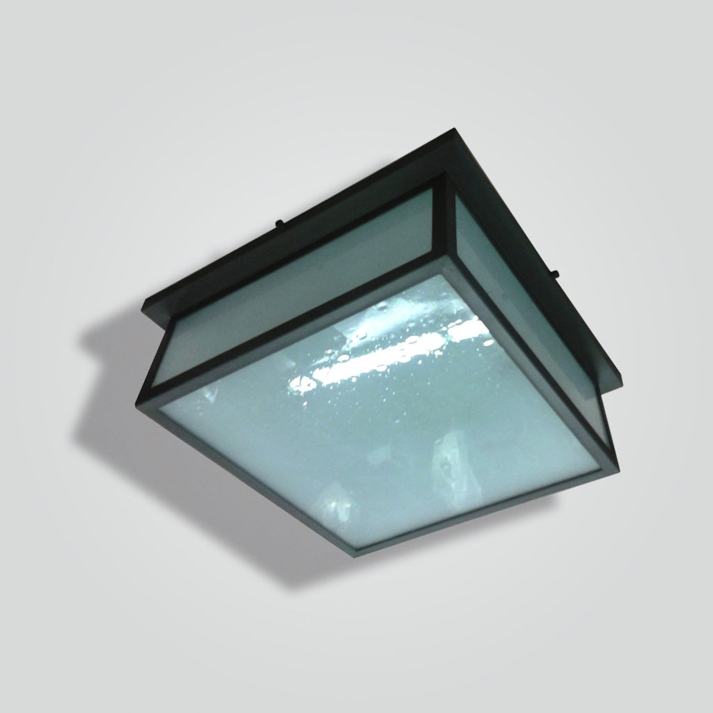 960-mb4-br-p-sh Brass and Glass Square Lantern – ADG Lighting Collection