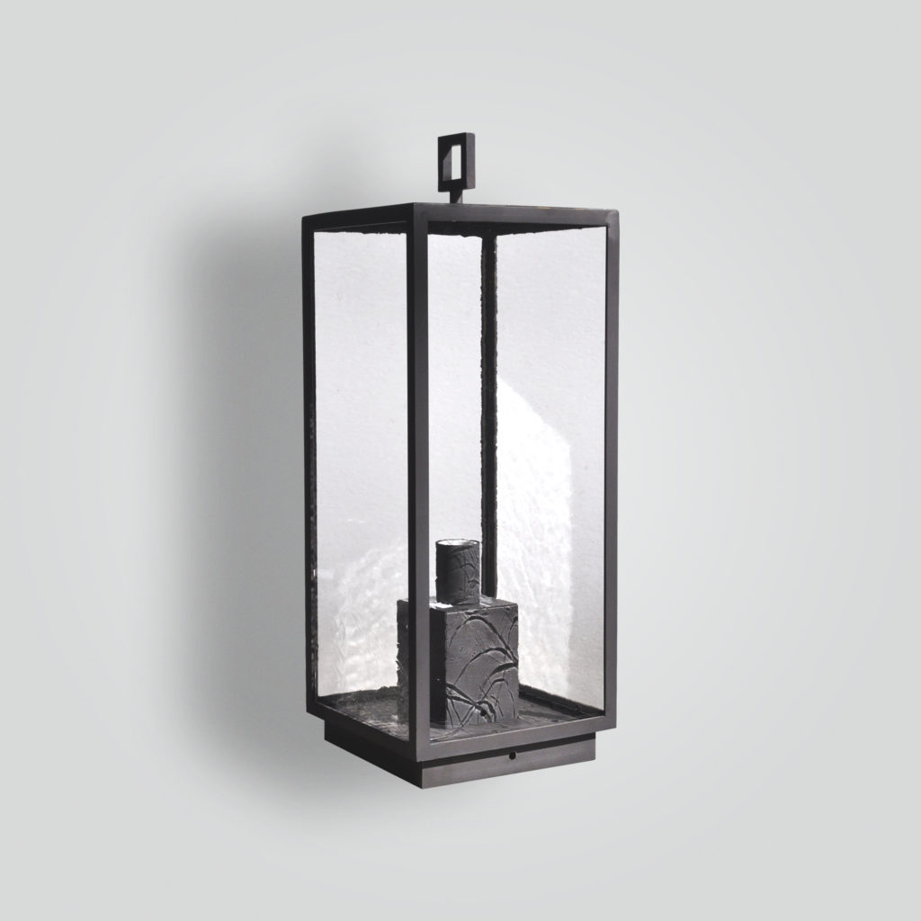 968-mb1-br-p-ba- Brass Pilaster Transitional Contemporary Lantern – ADG Lighting Collection