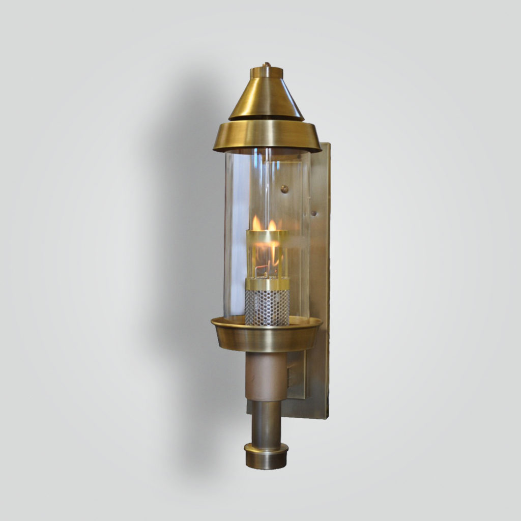970-ga-br-w-sh Cylinder Gas Light – ADG Lighting Collection