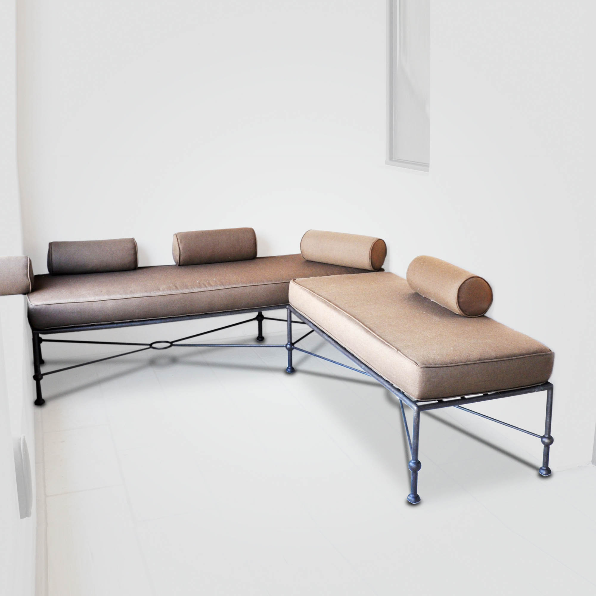 10003.1004 Low-back Sofa Series Modern Twist to Classic Iron Furniture – ADG Lighting Collection