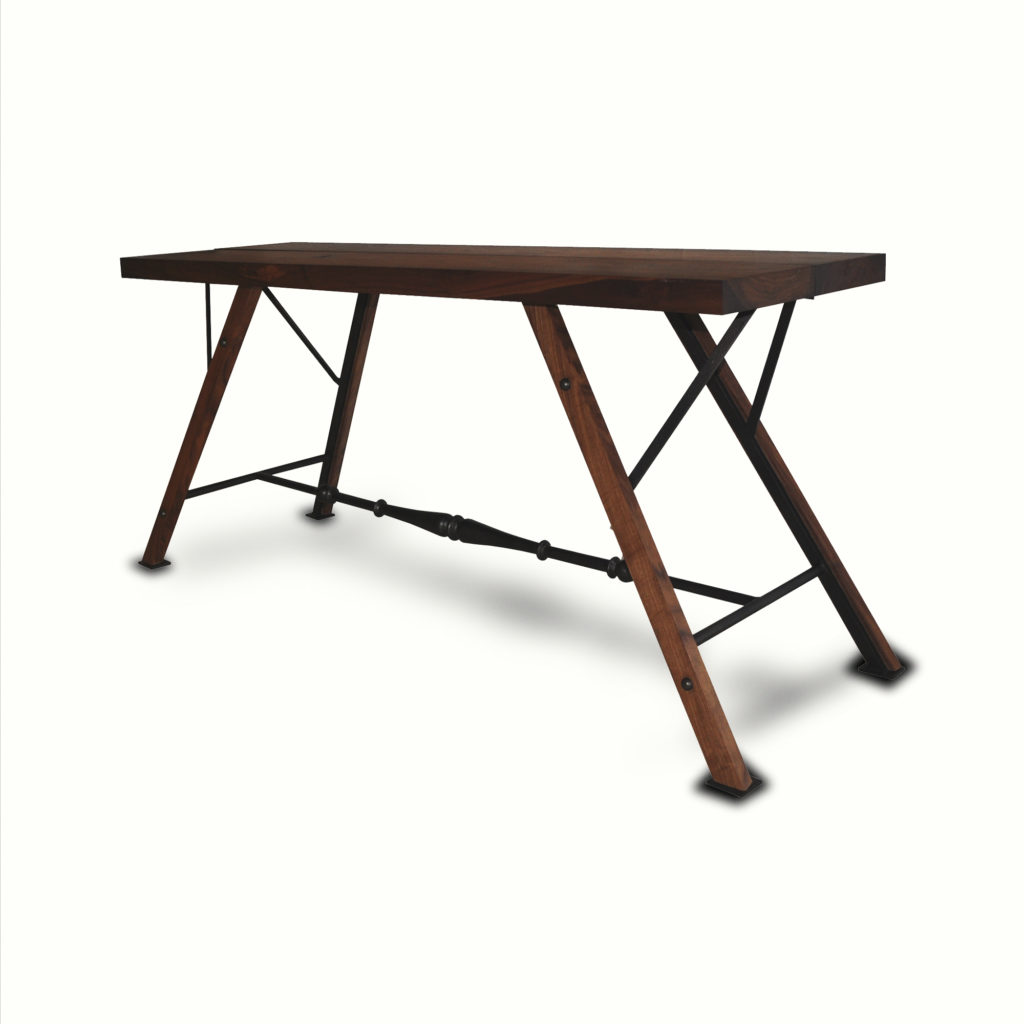 10011-irwo-ta Surf Rider Console Iron and Walnut Table – ADG Lighting Collection