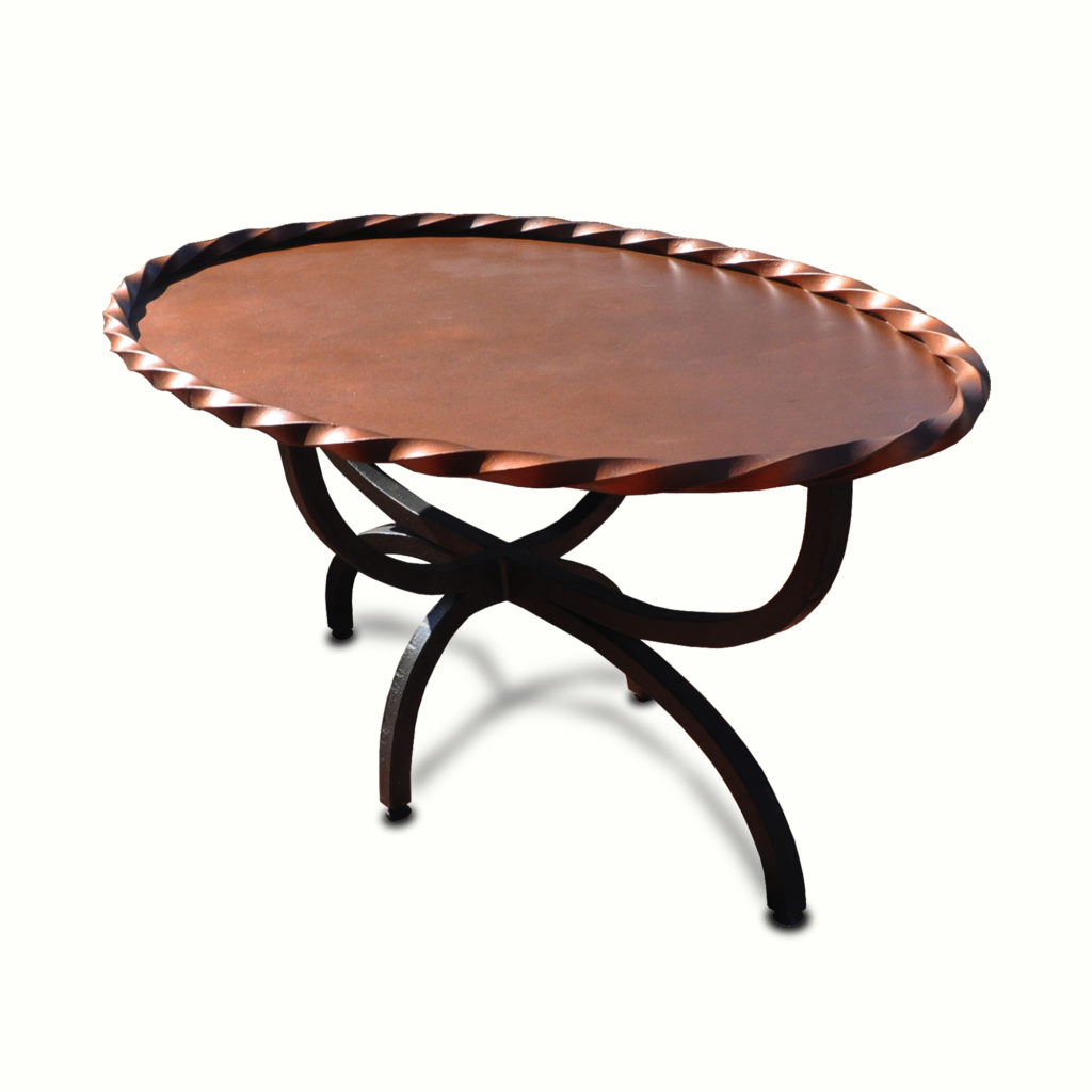 10020-ir-ta Copper Style Platter Top Coffee Table – ADG Lighting Collection