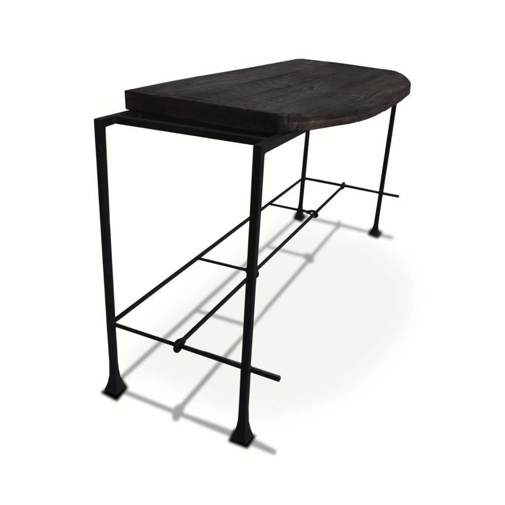 10300-irwo-ta Washington Console Table Reclaimed Lumber Wrought Iron Console – ADG Lighting Collection