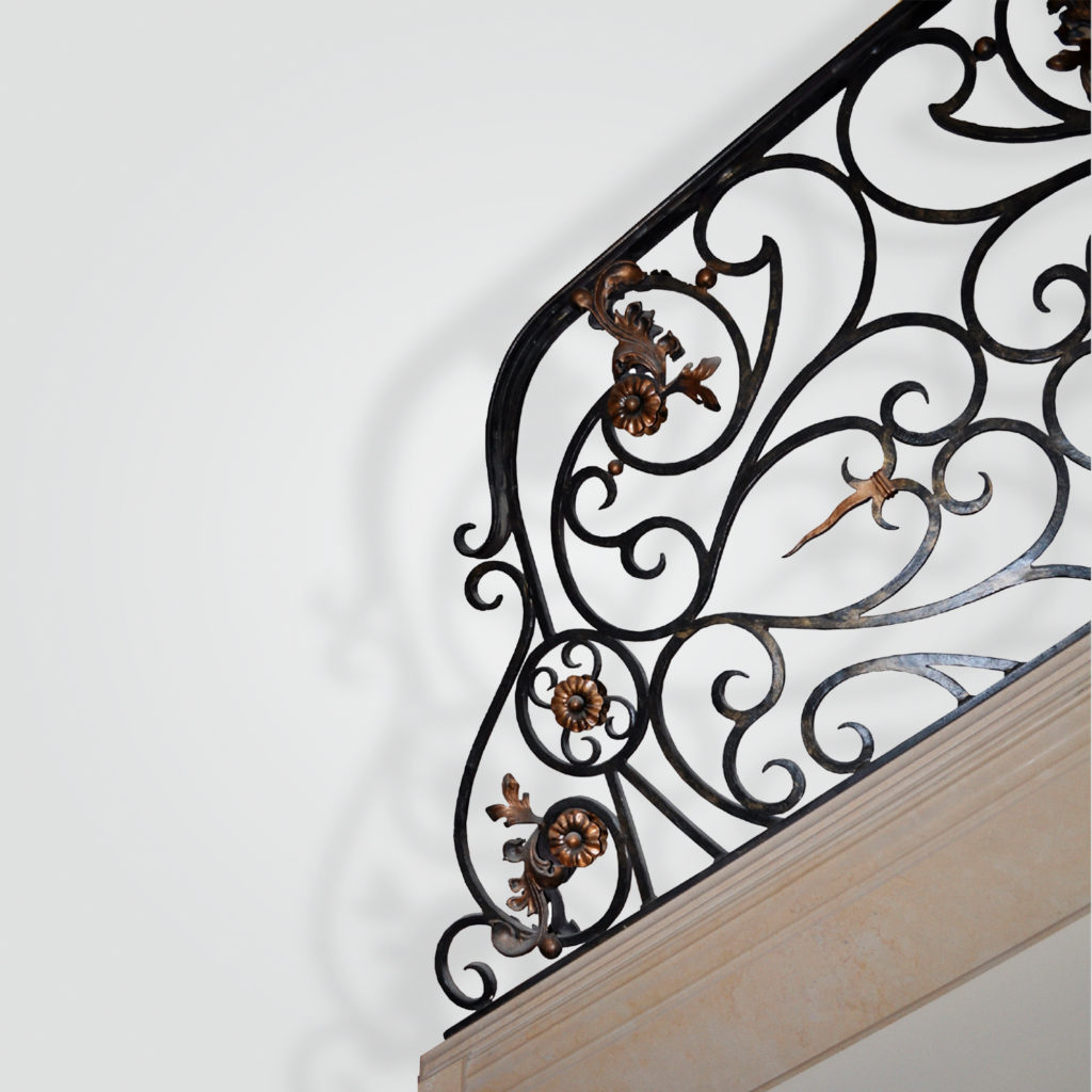 12000-ir French Gilded Iron Stairs – ADG Lighting Collection