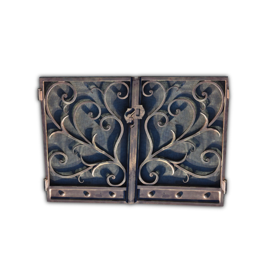 12002-ir Deco Fireplace Screen – ADG Lighting Collection