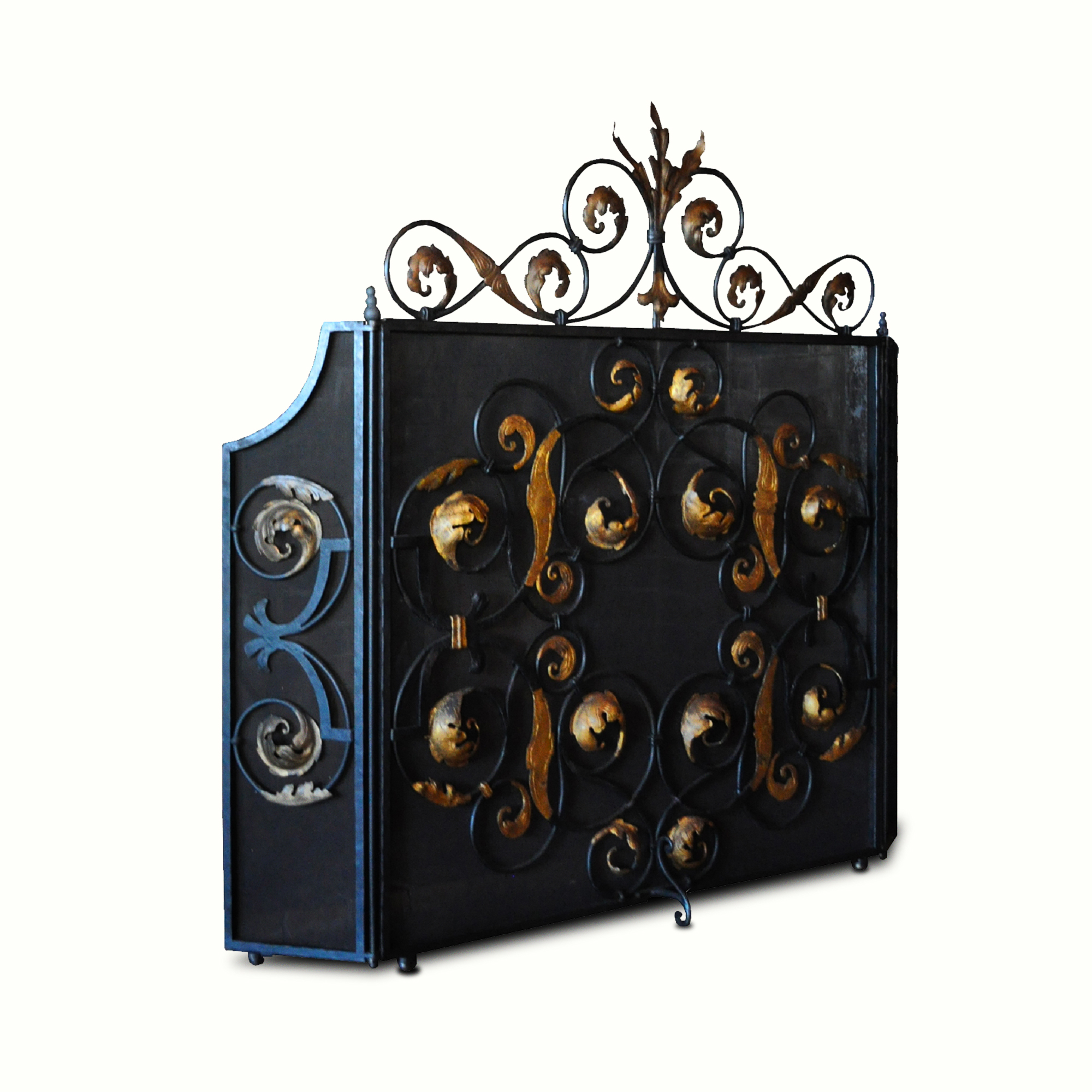 12007-ir Hearst Castle Fireplace Screen – ADG Lighting Collection