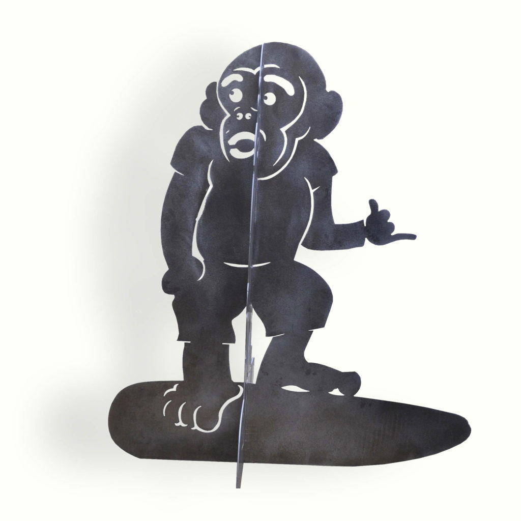 8976 Surf Monkey Brushed Aluminum Water Jet Cut – ADG Lighting Collection