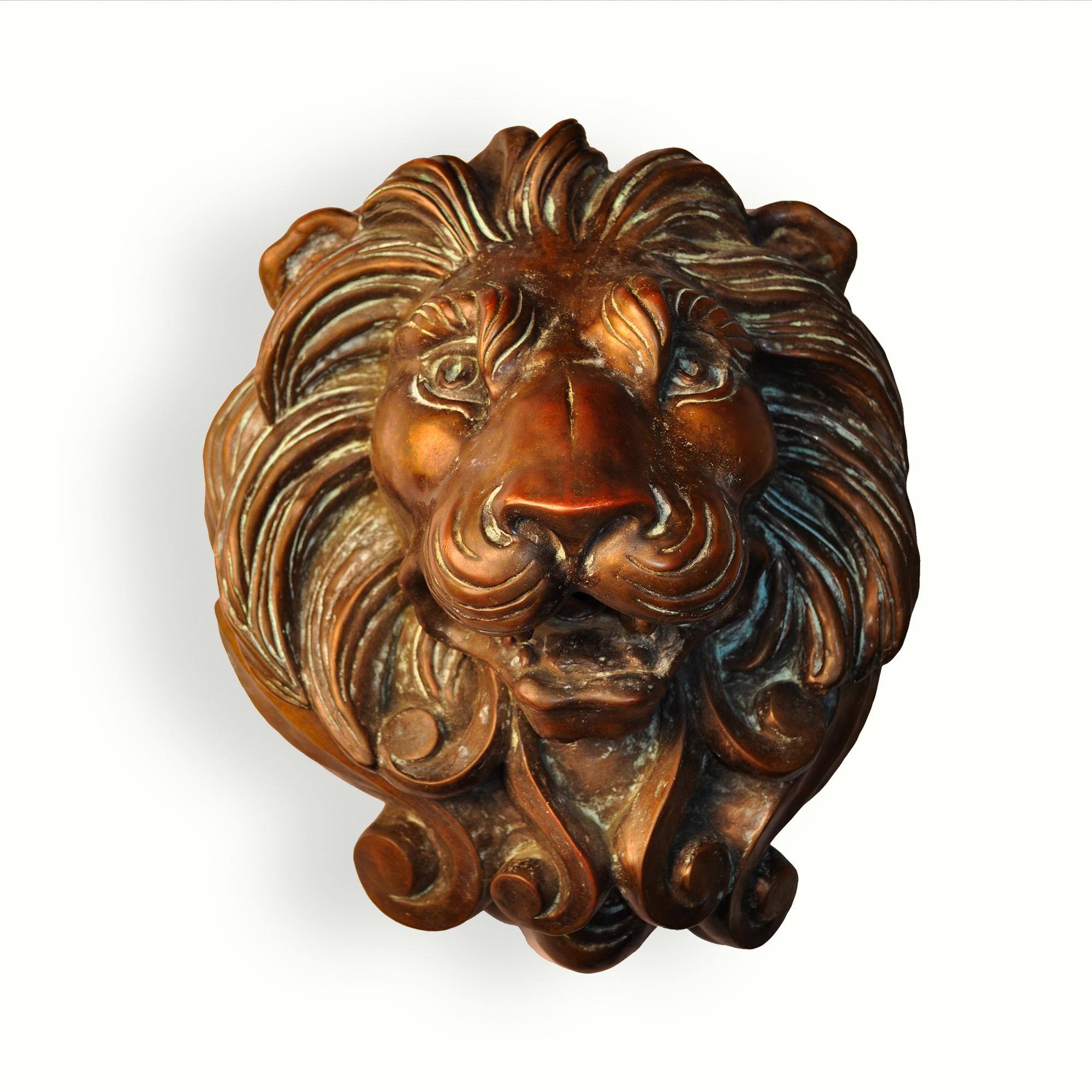 9020 Cast Lion Head Bronze Spitter – ADG Lighting Collection
