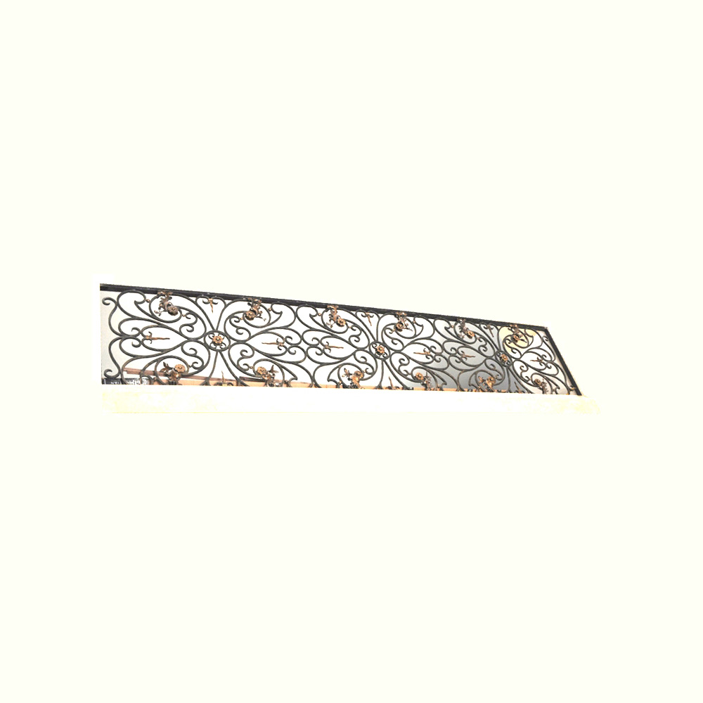 12001-ir French Gilded Iron Balcony Guard ADG Lighting Collection
