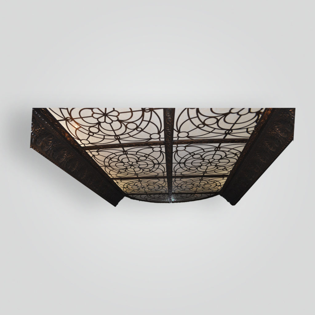 7230 Ind St Sh Water Jet Cut Ceiling With Pressed Metal Facia Over Subterranian Pool ADG Lighting Collection
