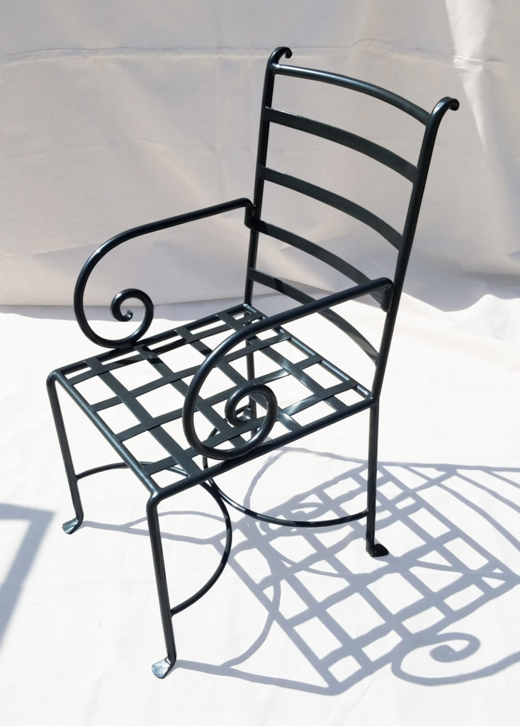Exterior Chair with Scroll Arm ADG Lighting Collection