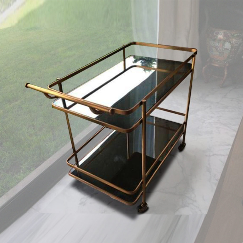 art bar cart brass ADG Lighting Collection