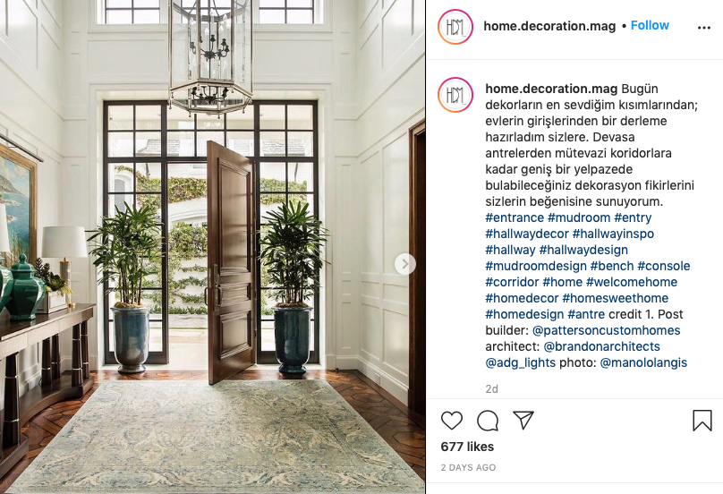 home decoration mag instagram