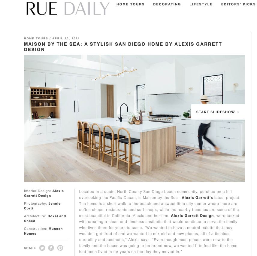 rue magazine April 2021